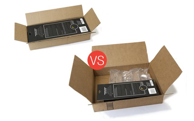 Right-Size Shipping Box, DIM Charges, Less Void Fill